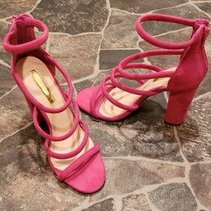 Liliana sandle strap chunky high heel shoe